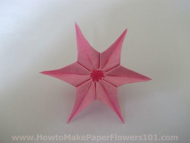 Easy paper flowers folding tutorial flowers pinterest easy paper flowers folding tutorial mightylinksfo