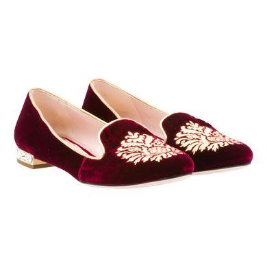 d95761ff0f3c Miu Miu - Embroidered velvet slipper Jeweled heel.