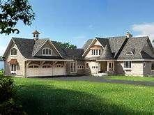 45 Degree Angled 3 Car Garage Shingle Style Homes Craftsman Exterior House Plans