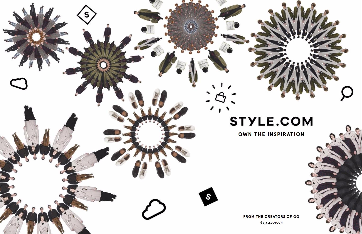 STYLE.COM 2017 advertising