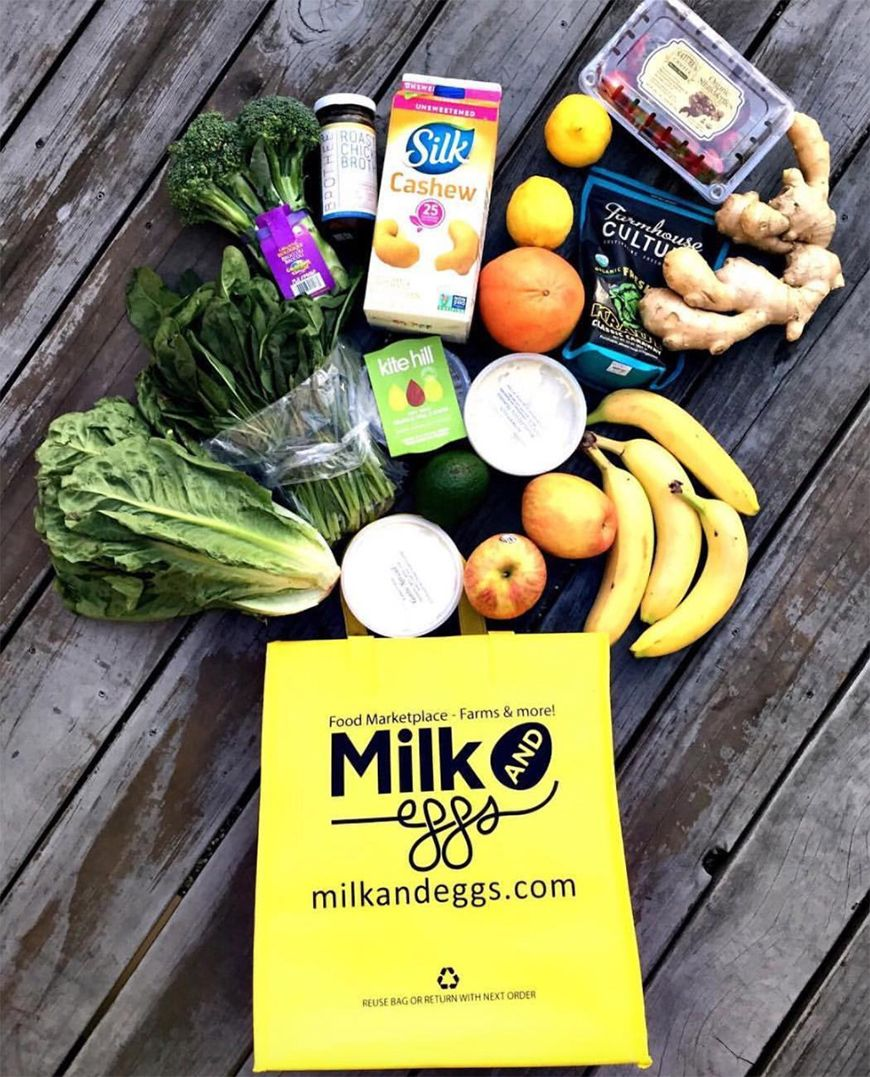 Super awesome giveaway of a $100 gift card to Milk and Eggs for Los Angeles  and Orange County residents. It's a … | Delivery groceries, Milk and eggs,  Grocery foods
