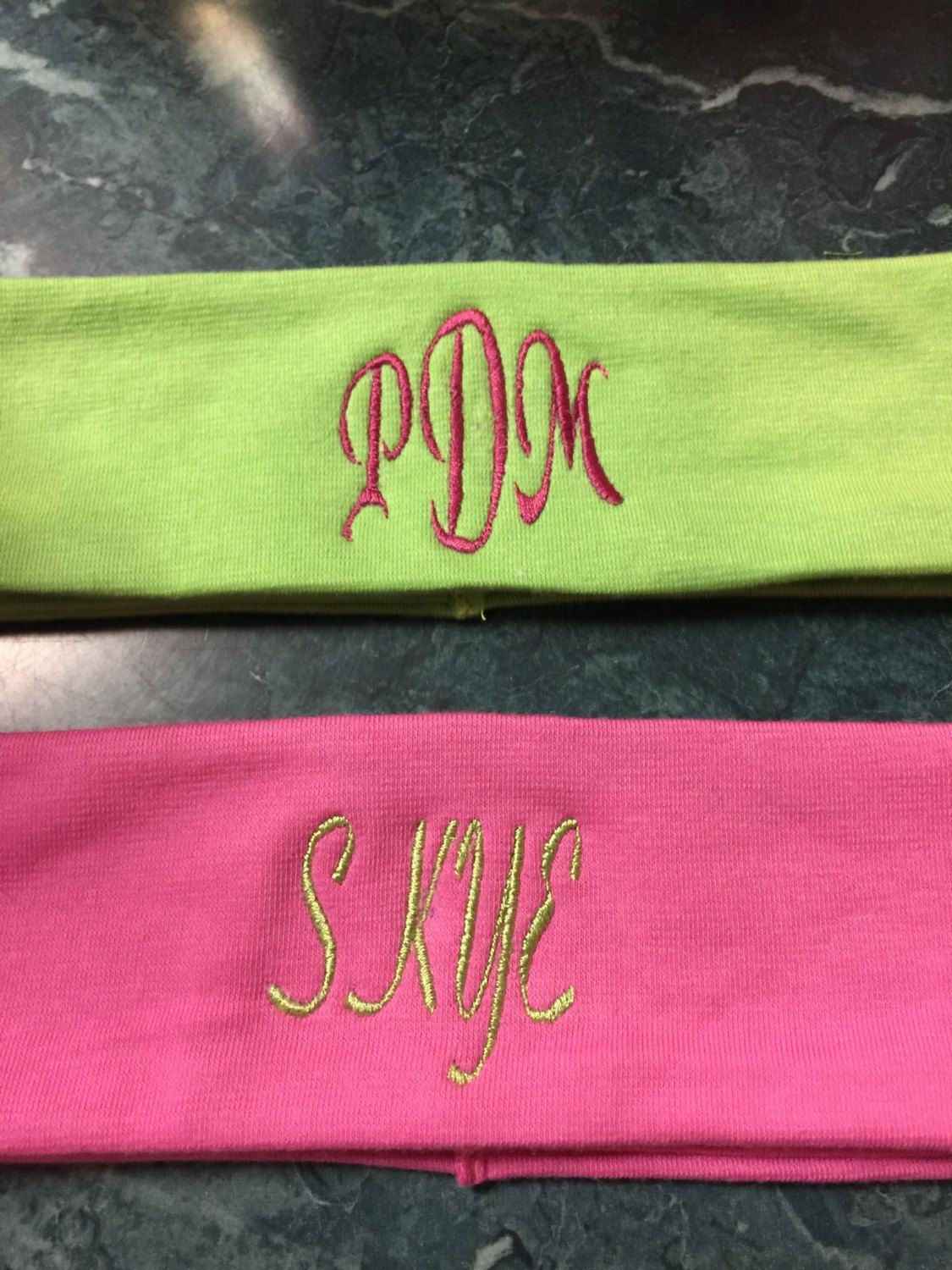 Personalized Monogrammed Stretch Headbands-ladies f6b8570c6c7