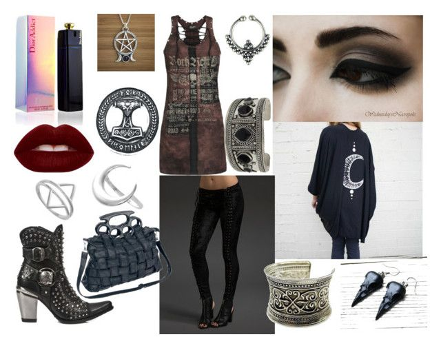 """""""Rock Nights"""" by zephir-v on Polyvore featuring moda, Poizen Industries, Fantasy Jewelry Box, Topshop y Lime Crime"""