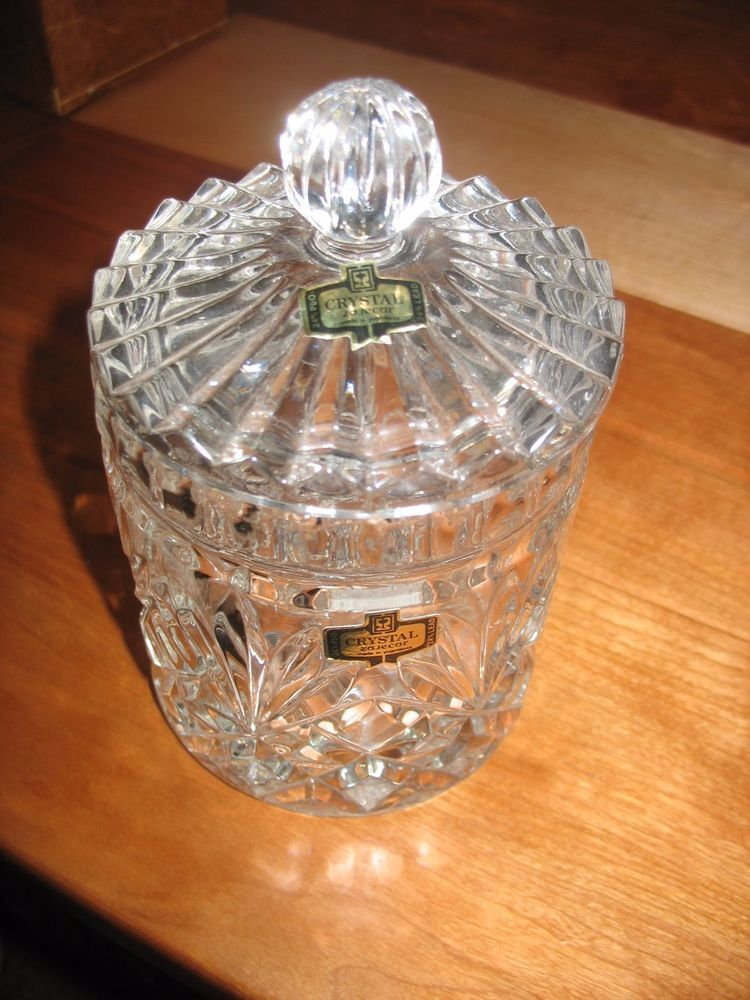 24 Zajecar Leaded Crystal Candy Dish With Lid Dishes