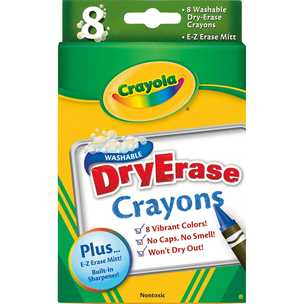these crayola dry erase crayons easily wipe off of dry erase
