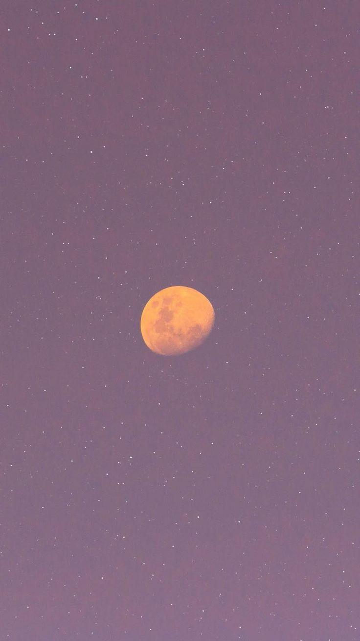 Full moon in the pink sky wallpaper   Aesthetic iphone wallpaper ...