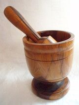 extra large wood mortar and pestle antique ships free  $175.00