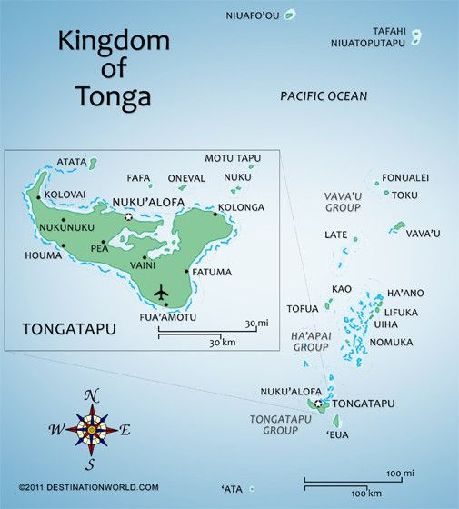 Tonga Islands Map Of Tonga Tonga Named The Friendly Islands By - Tonga map