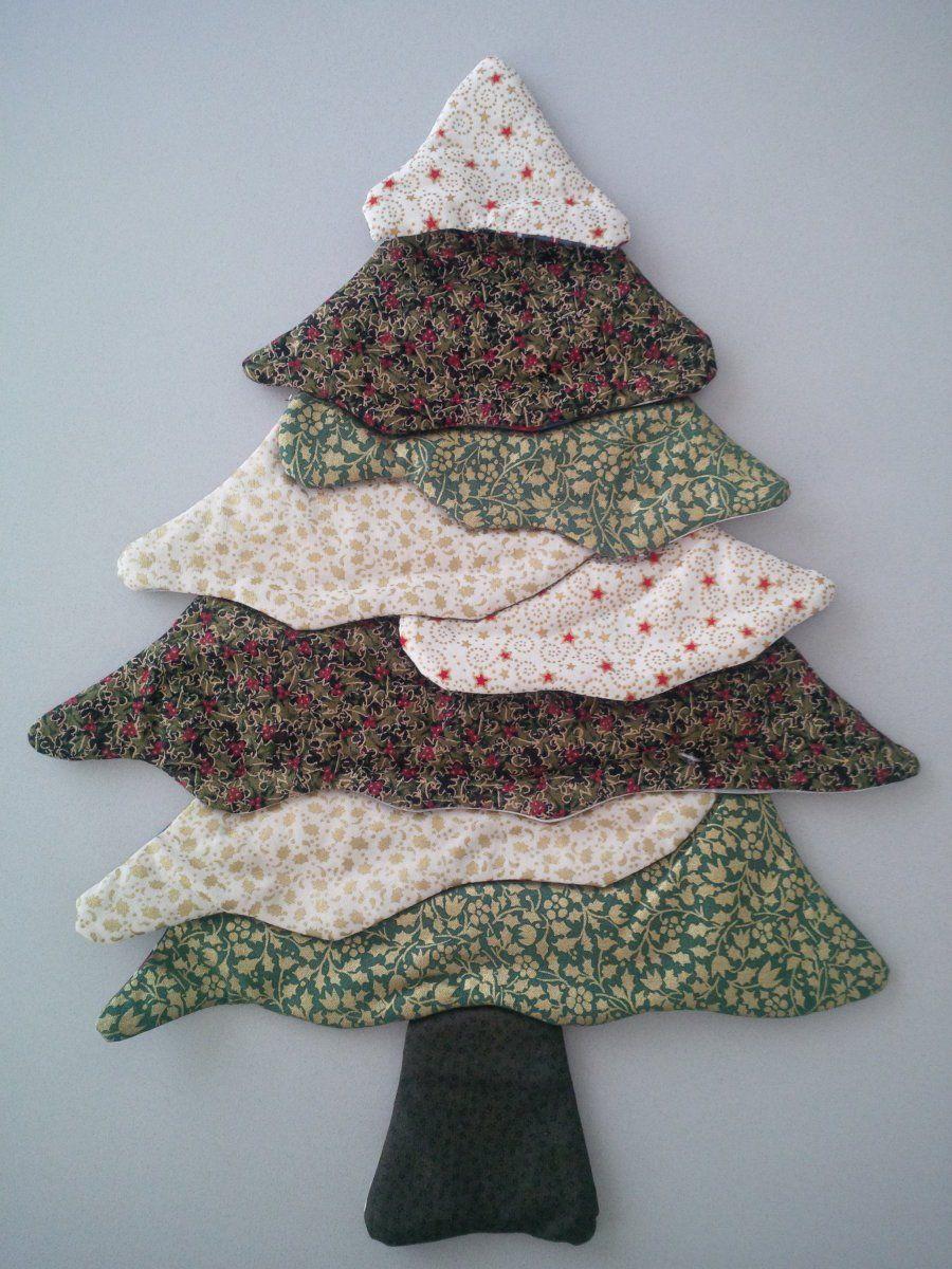 Rbol de navidad patchwork ideas para el hogar navidad - Arbol de navidad tela ...