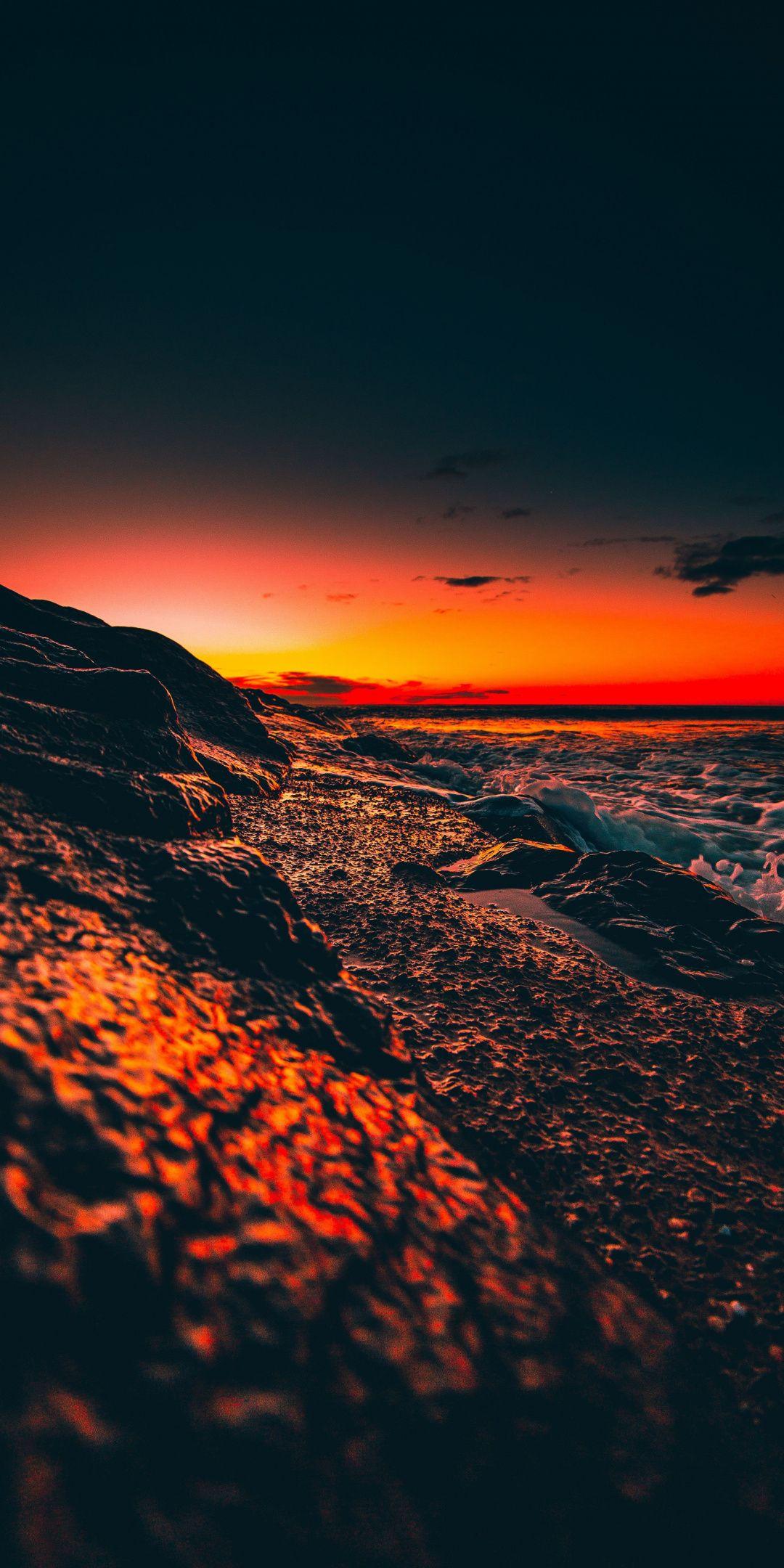 Beach Foam Sunset Close Up Wallpaper Beach Sunset Wallpaper Sunset Wallpaper Nature Photography Evening beach scenery wallpaper