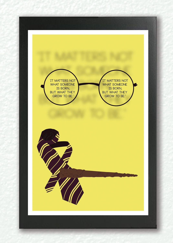 Harry Potter Print, Harry Potter Quote Art, Children\'s Wall Art ...