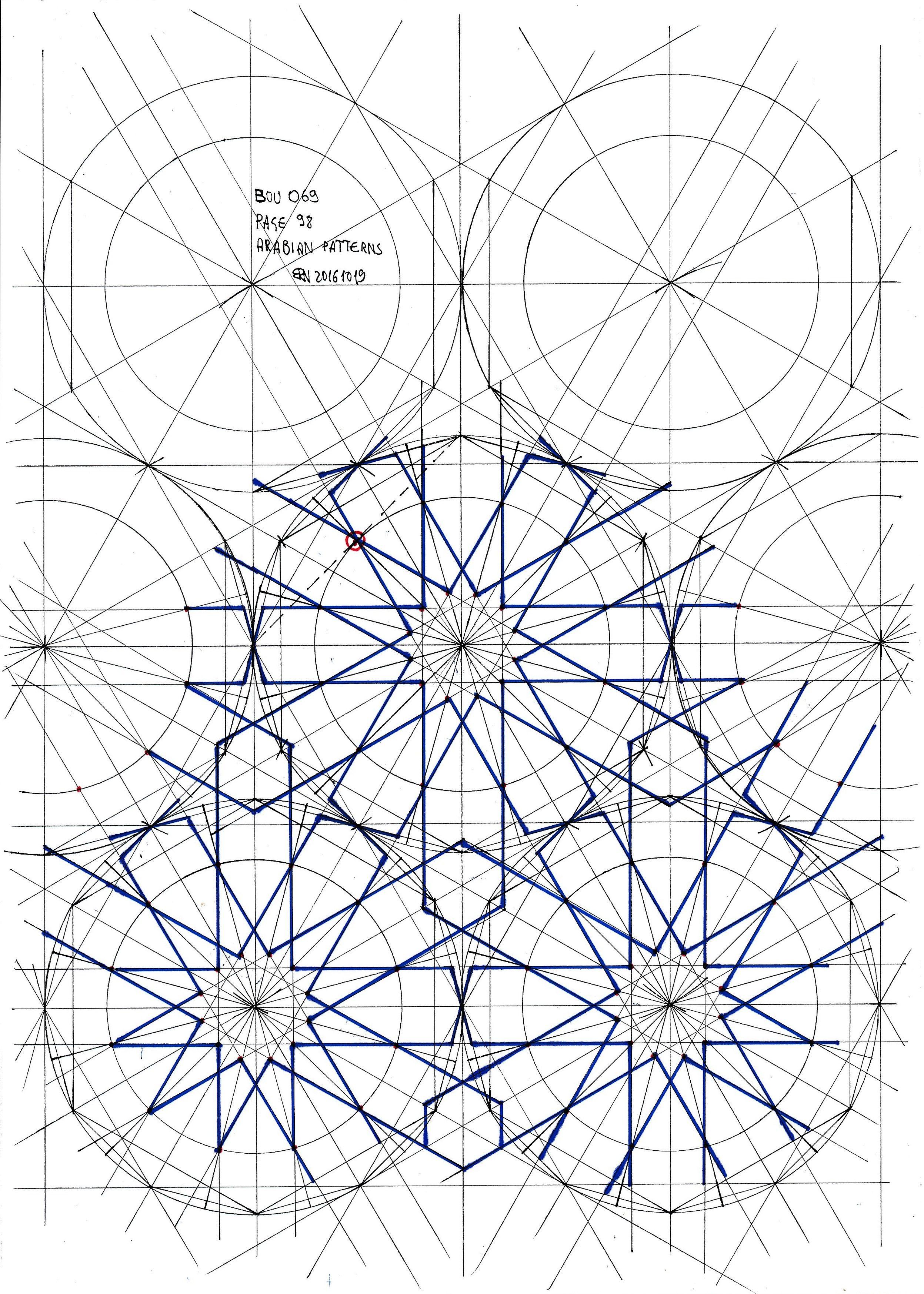 Bou069 Islamicdesign Islamicgeometry Islamicart Geometry Symmetry Pattern Tessellation Mathart Islamic Art Pattern Geometric Drawing Islamic Patterns
