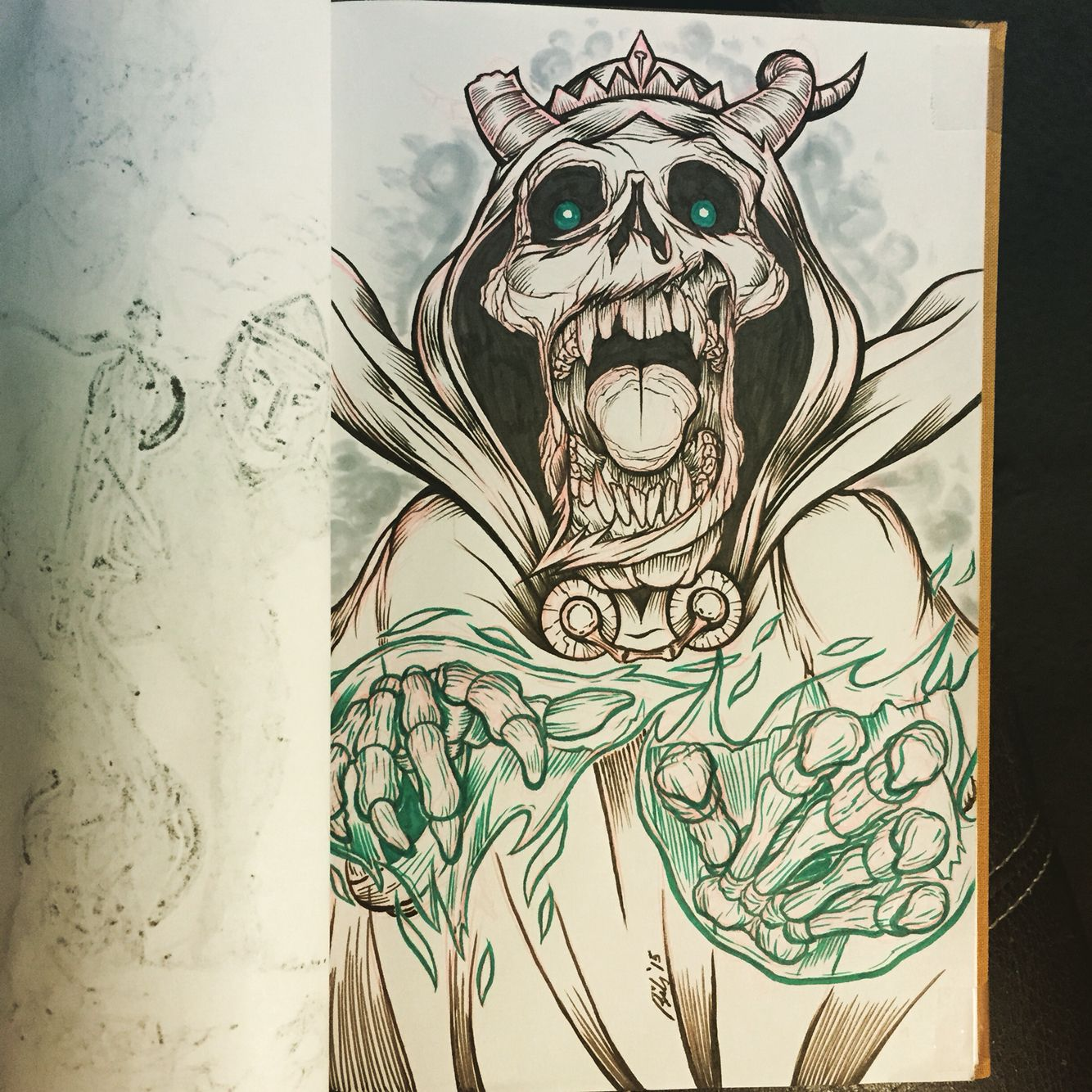 Final Inks On The Lich Sketch Adventure Time Art Adventure Time Tattoo Sketches