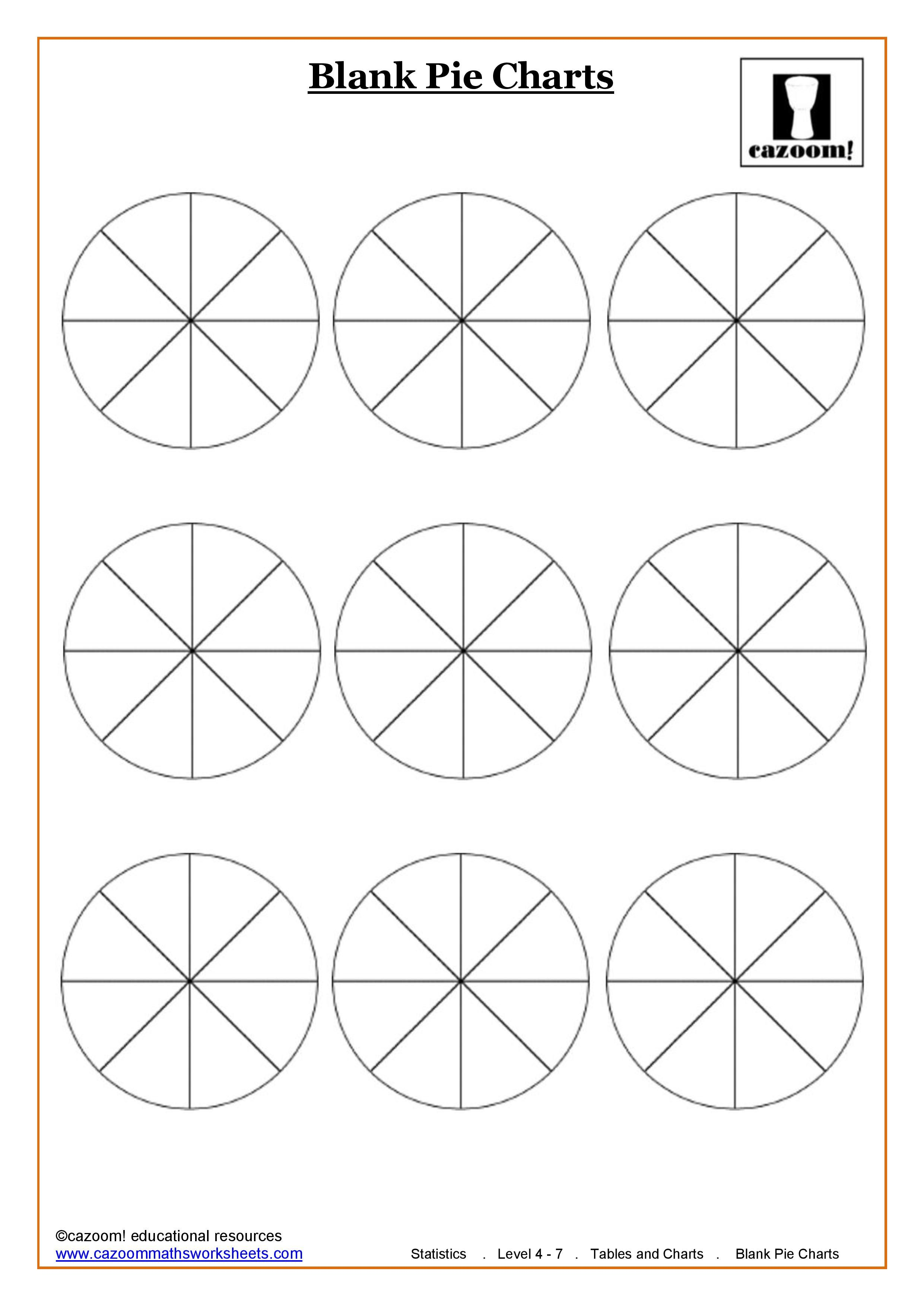 Blank pie charts 8 sections homework pinterest pie charts blank pie charts 8 sections nvjuhfo Choice Image