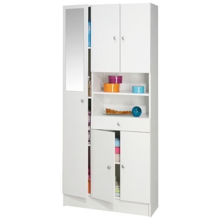 IMBATTABLE Armoire de salle de bain L 82 cm - Blanc mat
