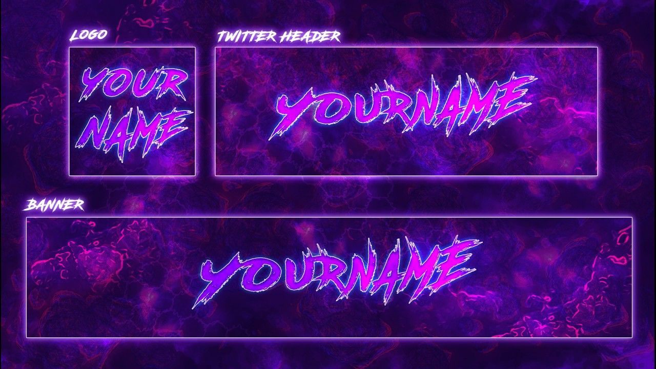 Youtube Banner Template Purple Youtube Banners Banner Template Youtube Banner Template