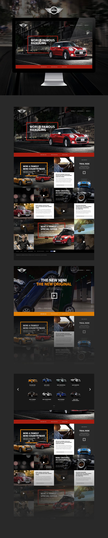 Mini Concept Design On Behance Webpage Design Web Design Examples Web Design User Interface