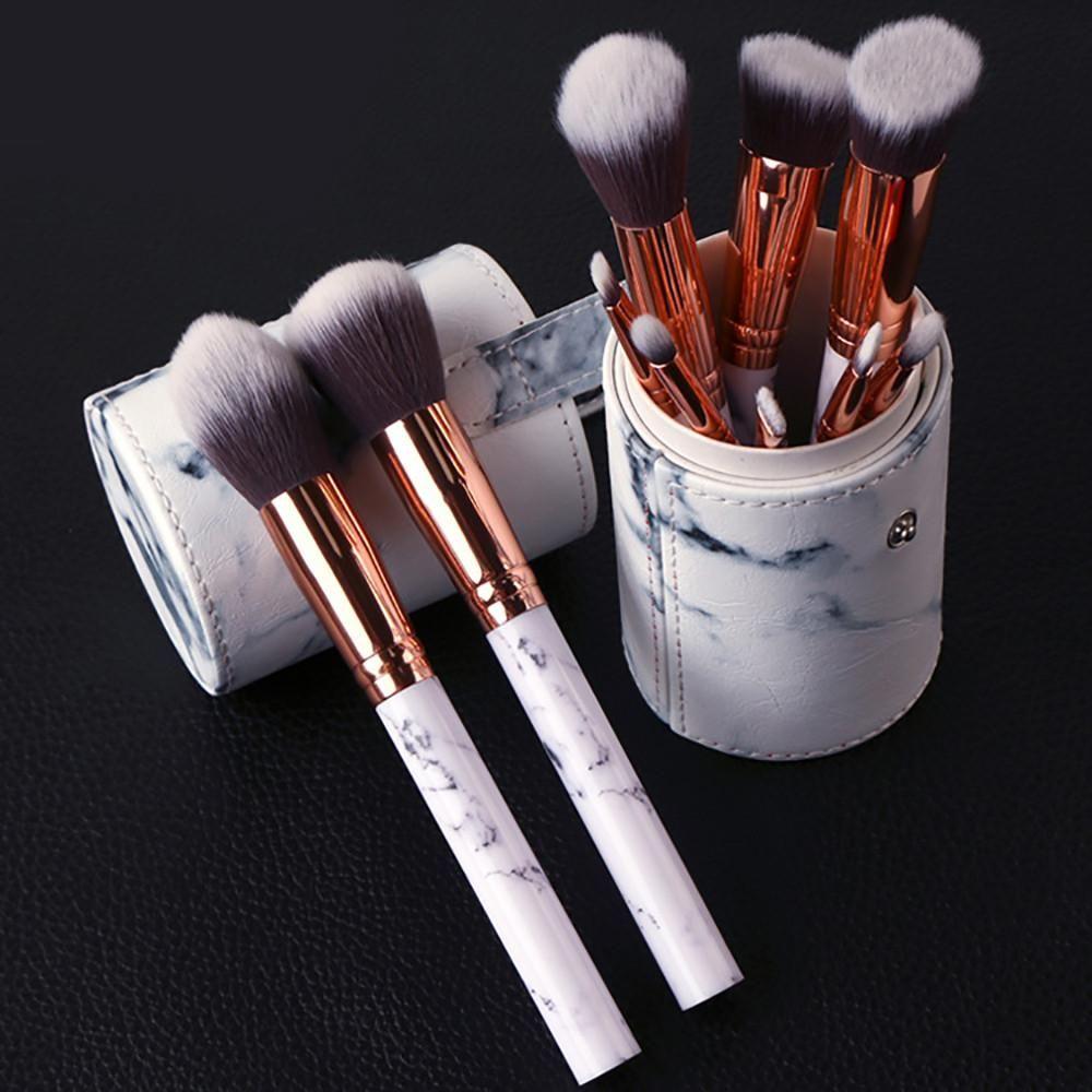 10 Piece Marble Brush Set W Case Makeup Brush Kit Makeup Brush Set Soft Makeup