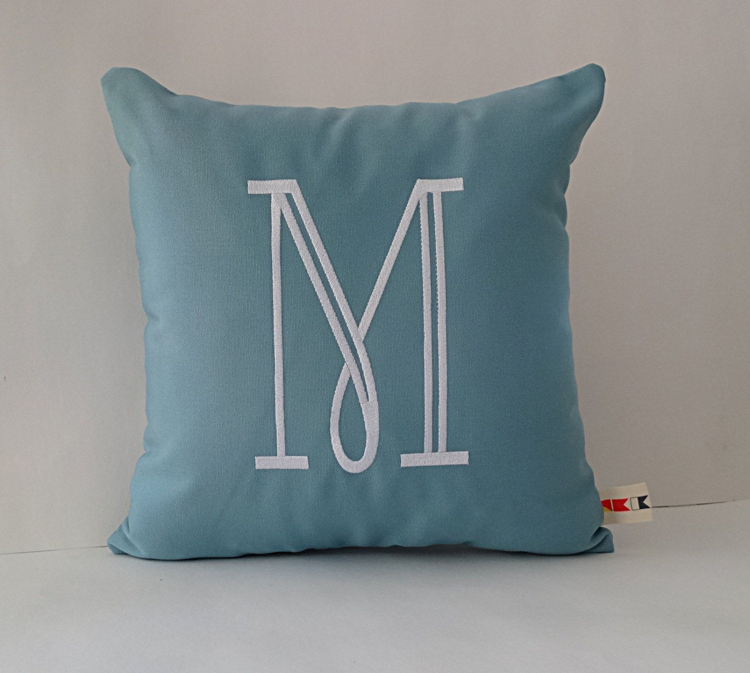 Initial Pillow Covers Inspiration Sunbrella Inital Indooroutdoor Pillow Cover Initial Pillow Cover Design Ideas
