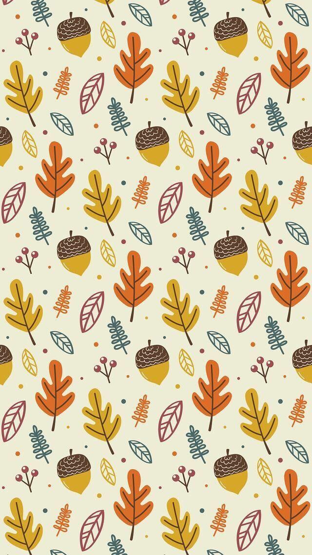 Wallpaper Iphone Autumn Pattern Iphone Wallpaper Herbst Herbst