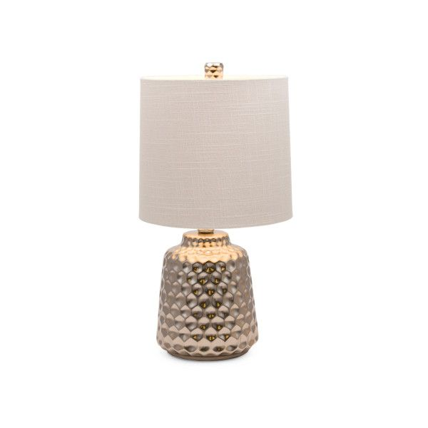 Hammered Table Lamp ($30) ❤ liked on Polyvore featuring home, lighting, table lamps, hammered lamp, drum shade, cord lights, drum lamp shade and hammered table lamp