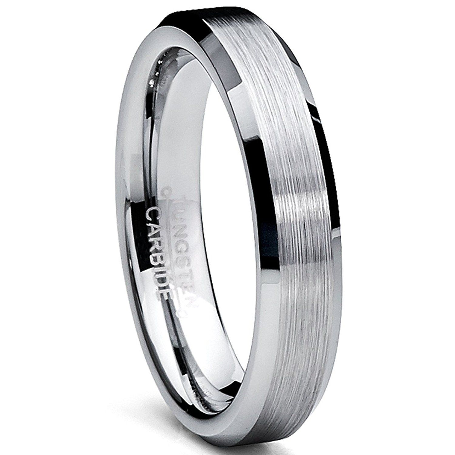 Ultimate Metals Co. Black Plated Cubic Zirconia Titanium Wedding Band Engagment Ring Comfort Fit Unisex WS4C78DHc