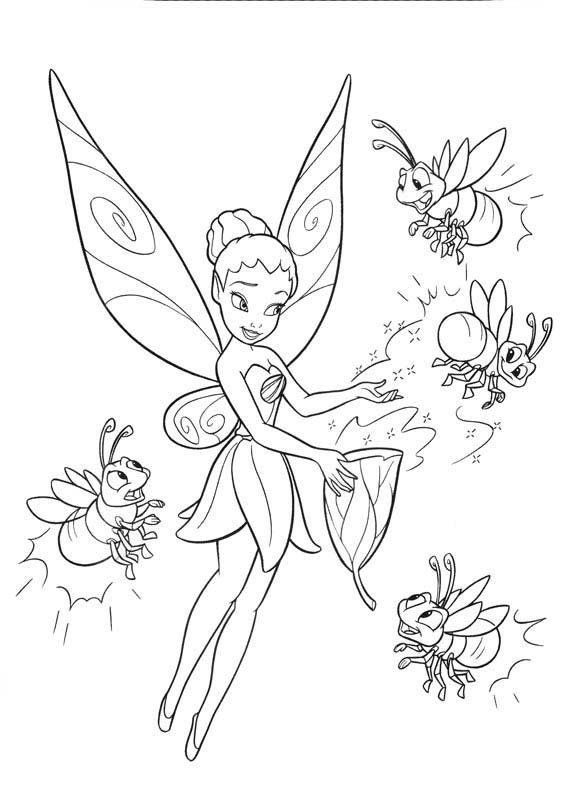 imagenes de tinkerbell para pintar | Disney-Dzwoneczek | Pinterest ...