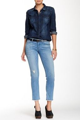 Alice Cropped Cut-Off Jean