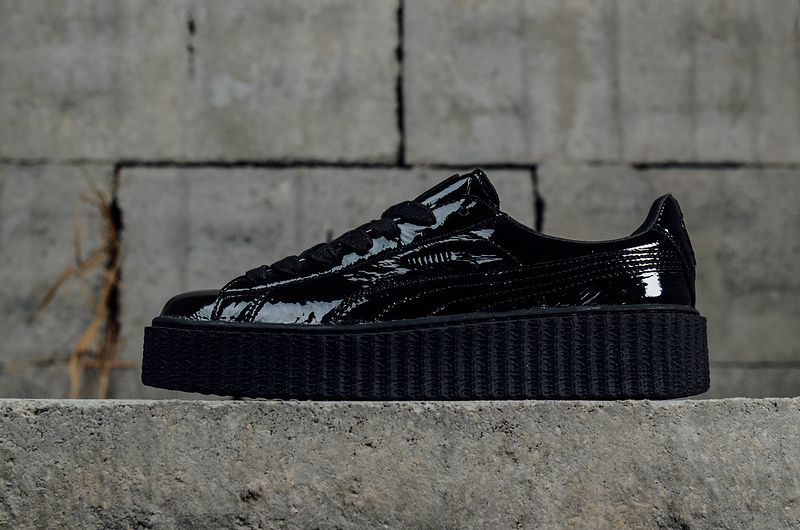 achat Womens Puma Creeper x Fenty by Rihanna Wrinkled Patent Fashion Shoes  Sneakers 364465 01 Youth Big Boys Shoes 42c2c8b33187
