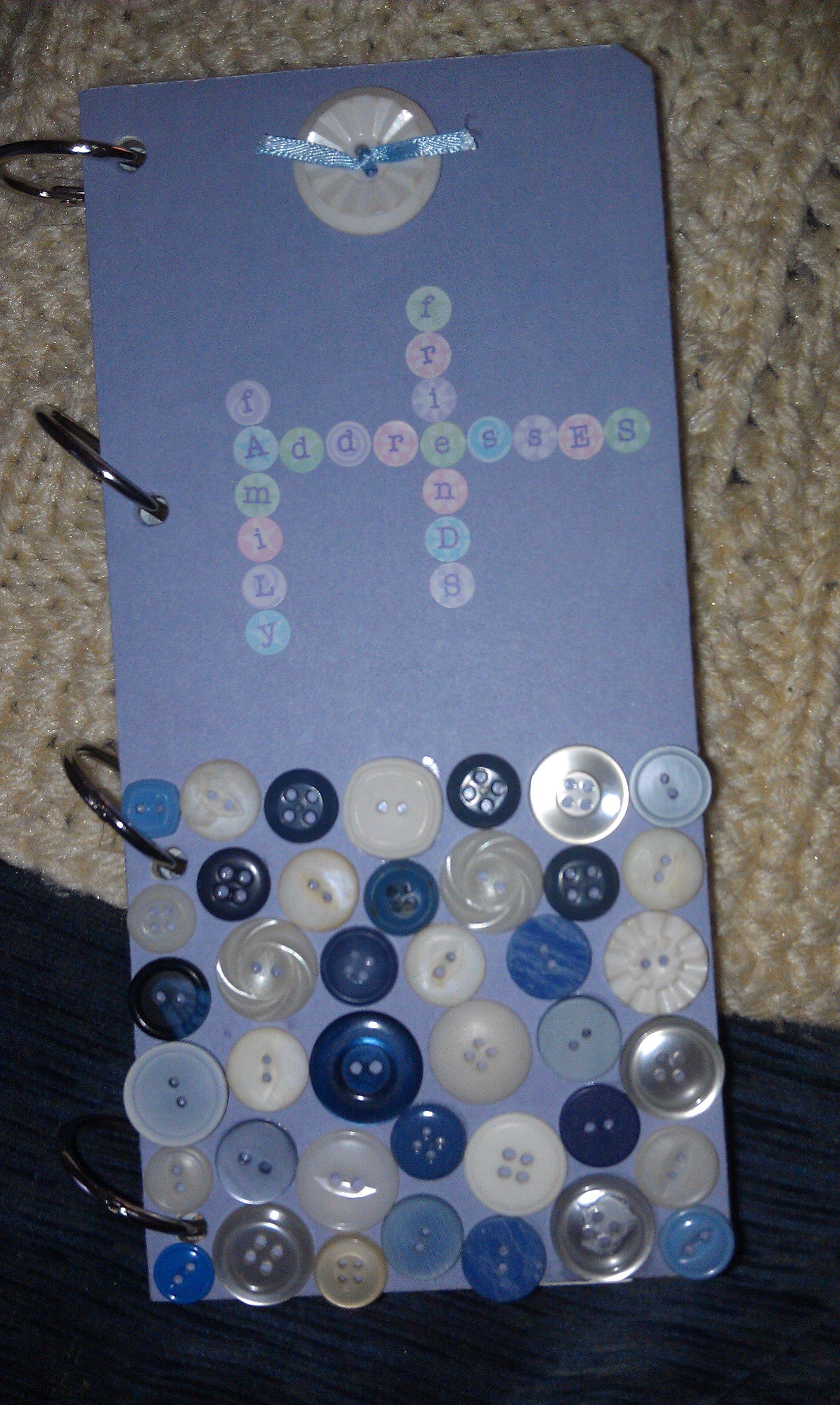 DIY button address book!