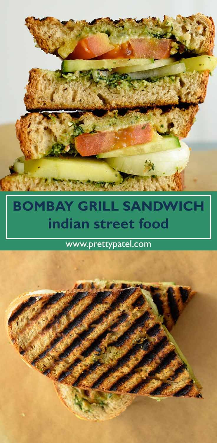 Bombay grilled sandwich indian street food recipe grilled bombay grilled sandwich indian street food forumfinder Image collections