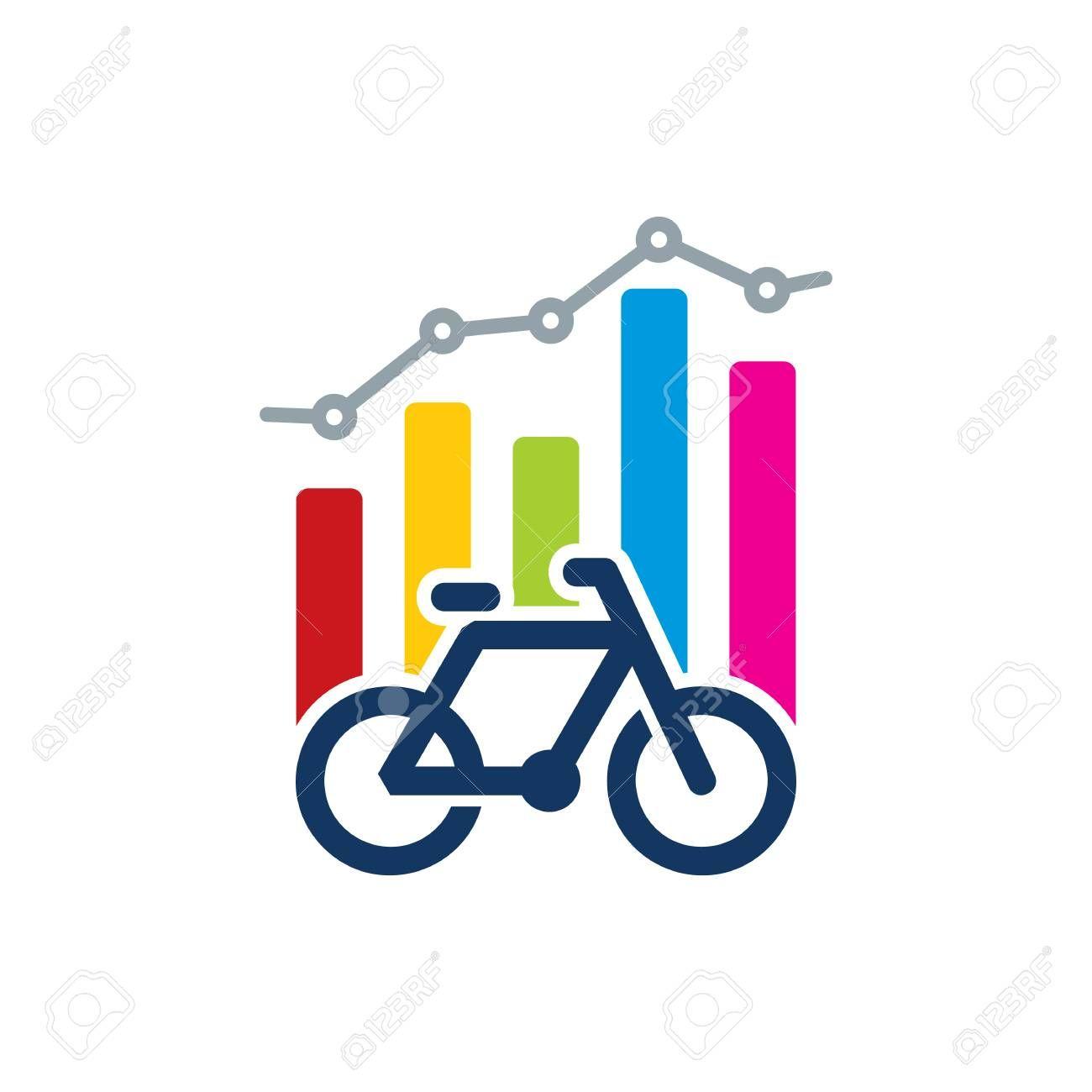 Bike Analytic Logo Icon Design Illustration Affiliate Logo