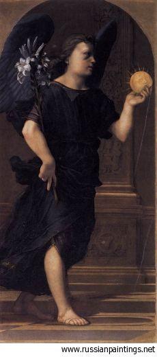 1515 'Angel' FRANCIABIGIO Francesco di Cristofano, detto il Franciabigio (ca. 1482, Firenze - 1525, Firenze) #TuscanyAgriturismoGiratola