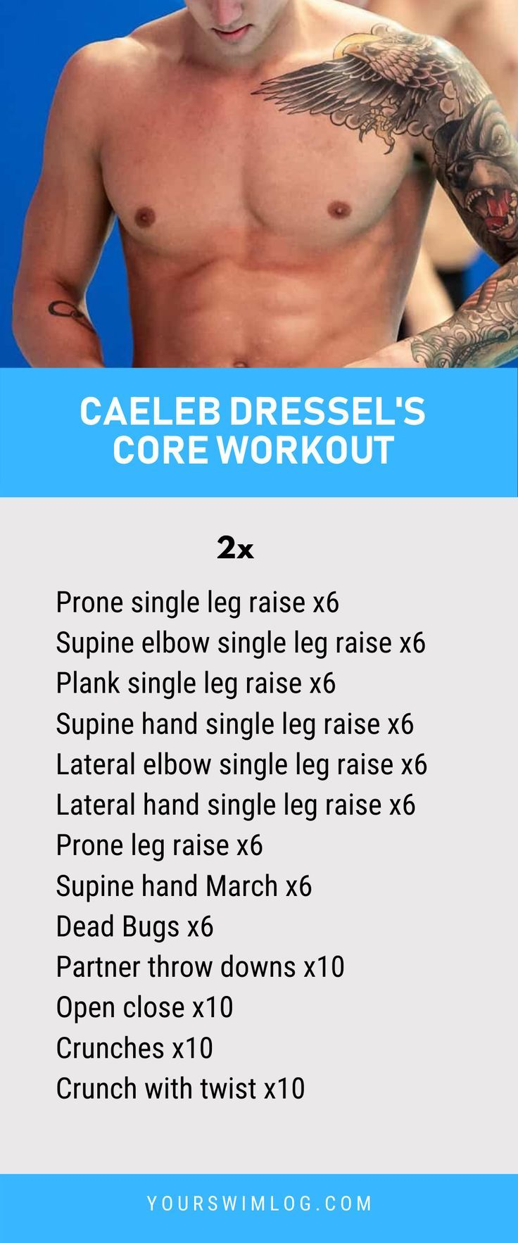 Caeleb Dressel Core Workouts