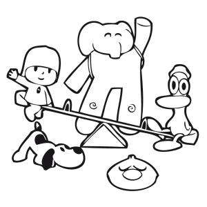 Personajes De Pocoyo Pato Eli Lula Pajaroto Jugando En Columpio Pocoyo Y Sus Amigos Pocoyo Pocoyo Dibujos