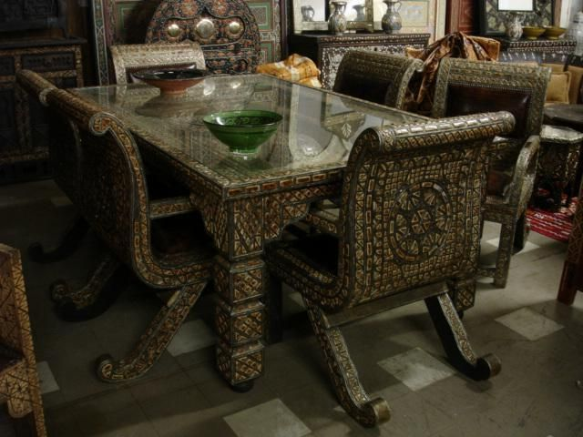 Dining Room Furniture In Egypt Style Interior