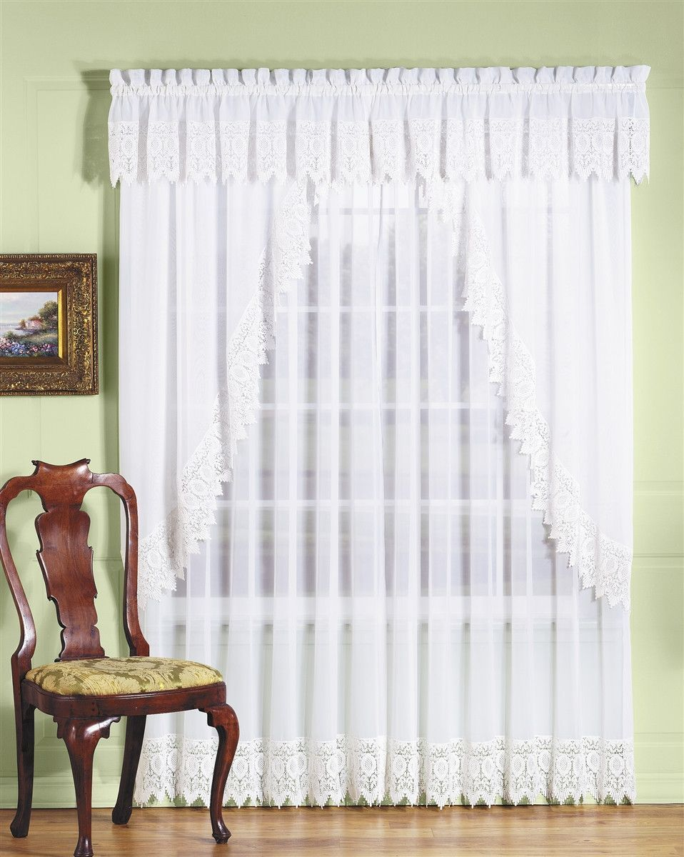 Diana Sheer with Macrame Trim Lace Curtains Products Pinterest