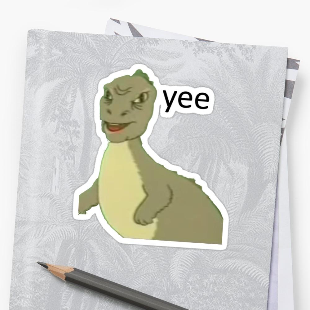 Yee Dinosaur Maym Version 1 Video Quality Black Text Sticker By Squidcase Dinosaur Meme Meme Stickers Dinosaur