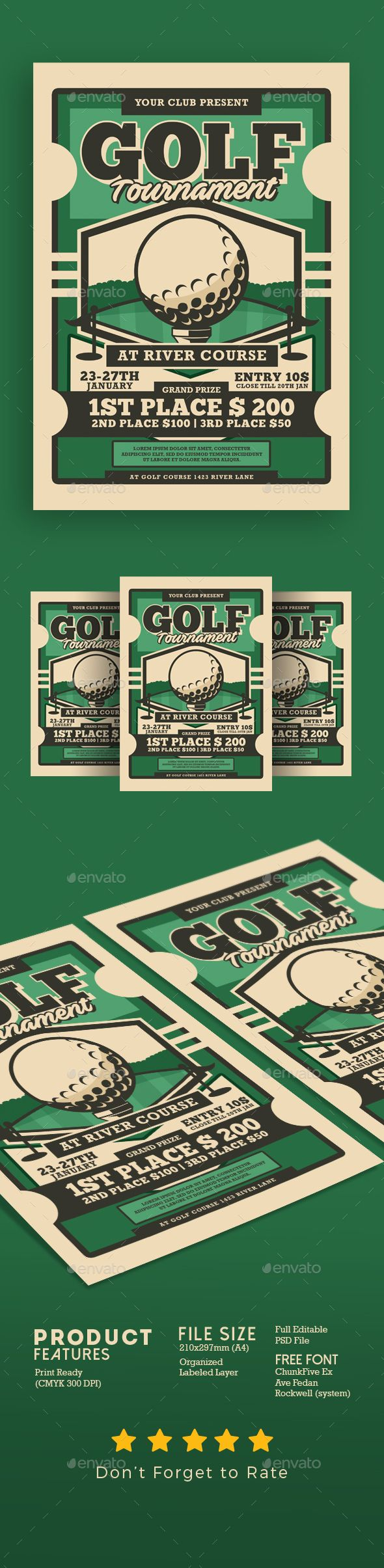 Golf Tournament Flyer Flyer Template Pinterest Flyer Template