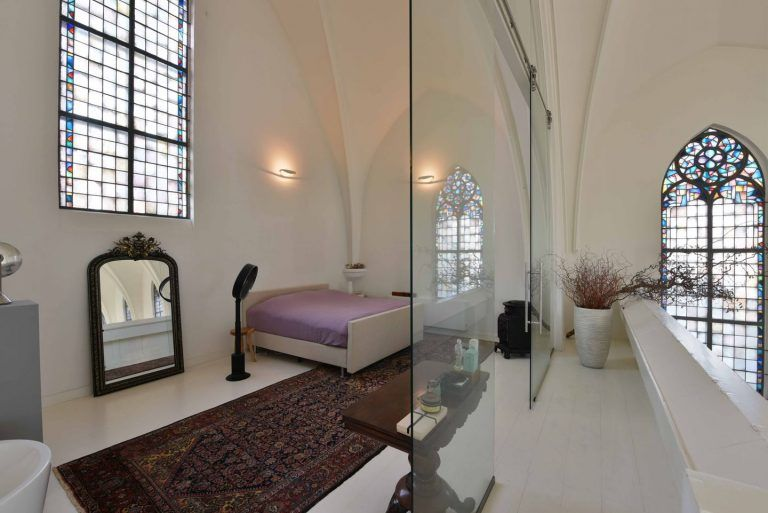 Modern design meets historic architecture in a converted church in