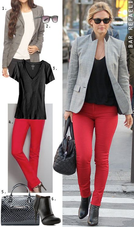 What color shirt to wear with red jeans – Global fashion jeans ...