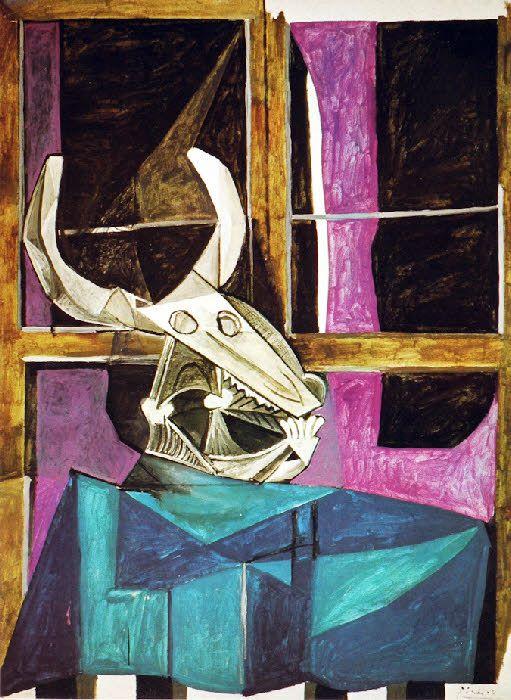 Pablo Picasso | Nature morte au crâne de boeuf | 1941. | canvas ...