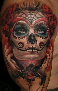 La Catrina Tattoo Google Search Catrina Tattoos Sugar Skull