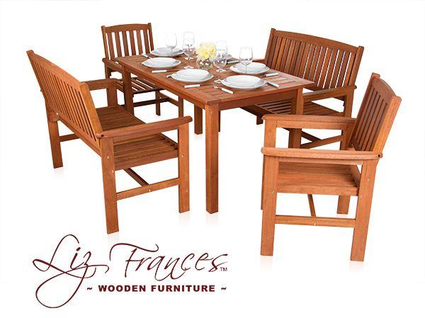 Oakham 6 Seater Hardwood Garden Furniture Set by Liz Frances
