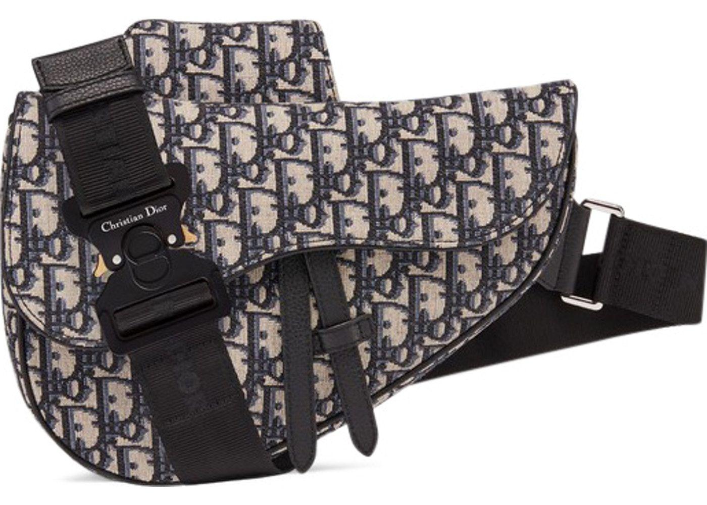 Christian Dior Oblique Saddle Bag Black | Fanny pack in 2019