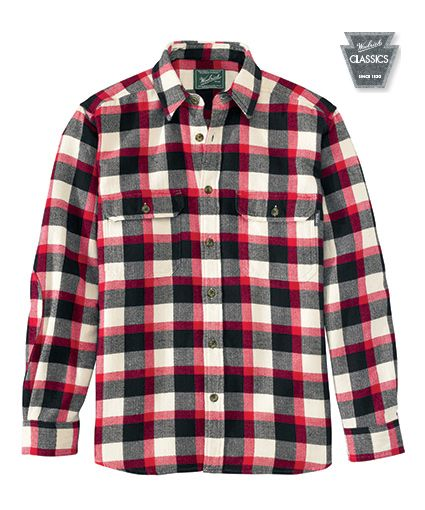 f0ed05772 Men's Oxbow Bend Plaid Flannel Shirt in Cardinal by WOOLRICH® The Original  Outdoor Clothing Company