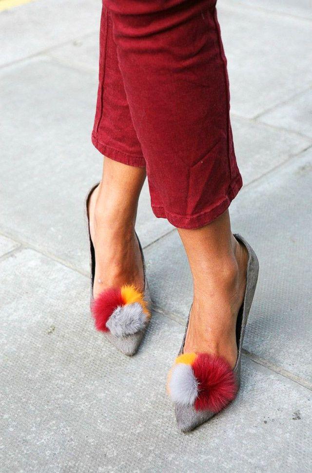 pompon pompones pom pom sandalia invitada boda blog