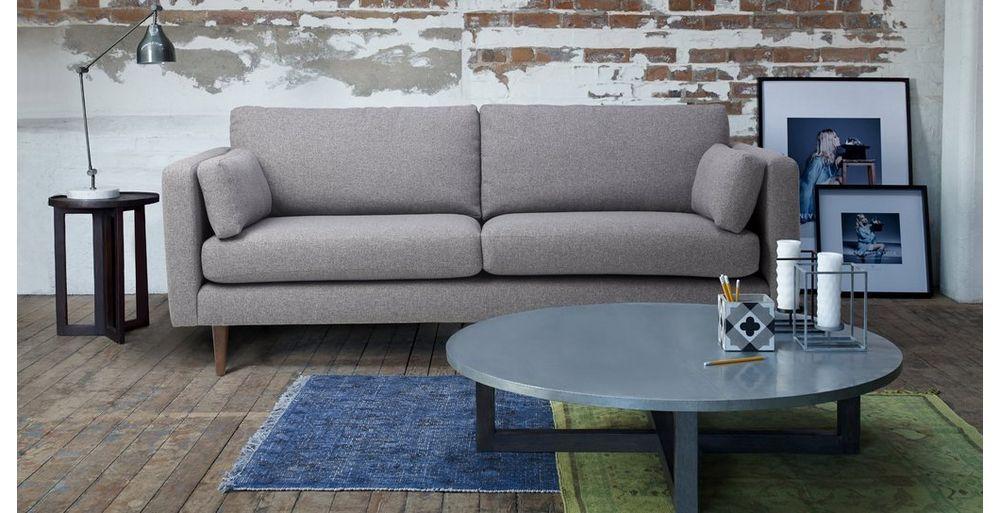 Marl Fabric 3 Seater Sofa Marl Plain Sofa Sale Sofa Furnishings