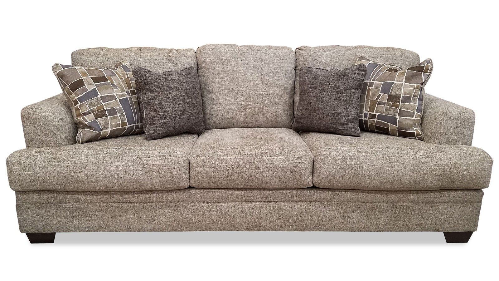 Gallery Furniture Barrish Sisal Sofa Front View For The Home