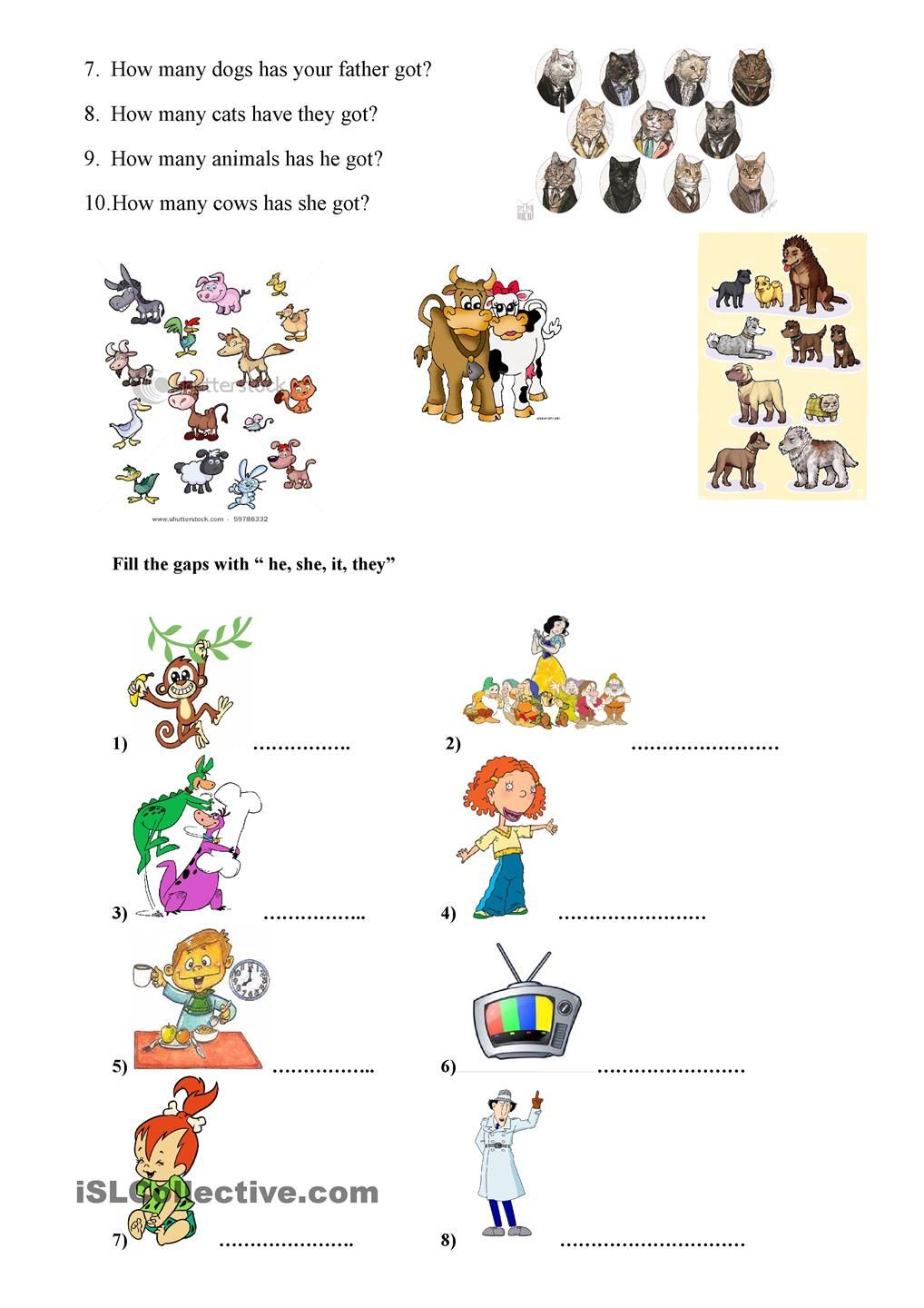 have got/ has got | Grammar | Pinterest | Worksheets, Printable ...
